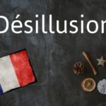 Word of the day: Désillusion