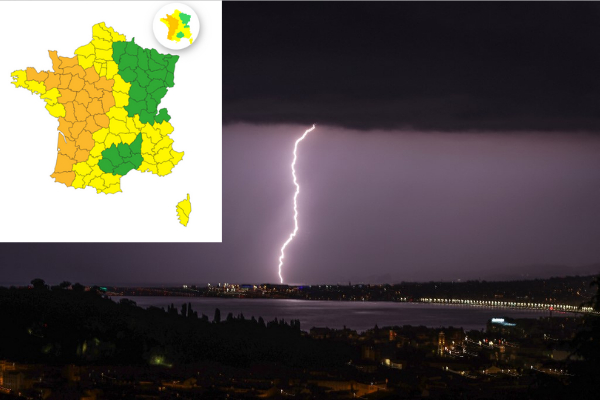 Storm warnings issued across France with heatwave set for abrupt end