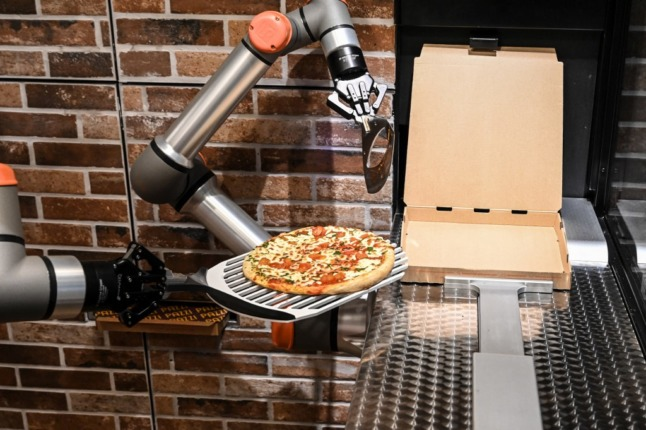 IN PICTURES: Paris' new robot-staffed pizza restaurant