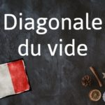 French phrase of the day: Diagonale du vide