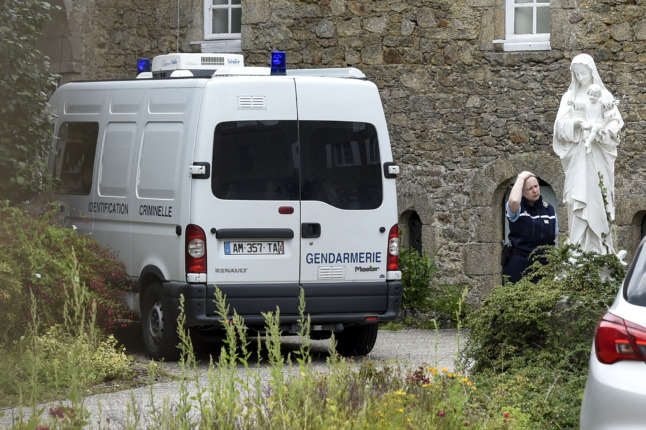 Murdered French priest died from blows to head, say prosecutors