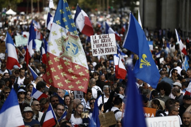 IN PICTURES: 160,000 protest in France against Covid rules