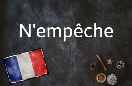 French phrase of the day: N'empêche