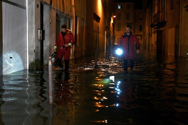 Flash flooding in south west France after record rainfall