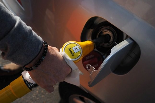 Diesel prices in France reach record high