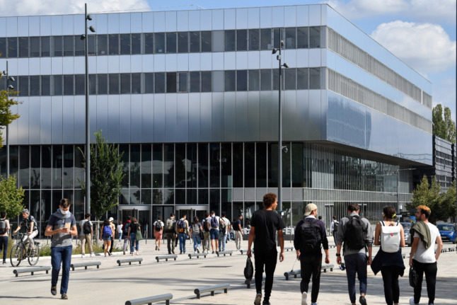 Paris-Saclay University  on the outskirts of Paris. Public universities in France do not charge EU students tuition fees.