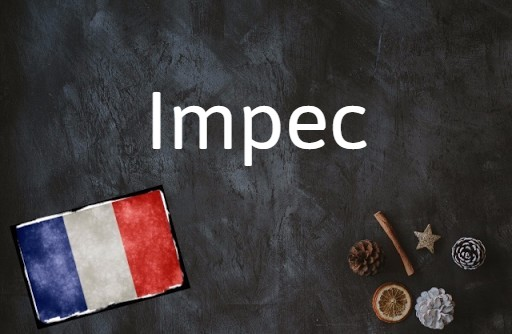 French word of the day: Impec